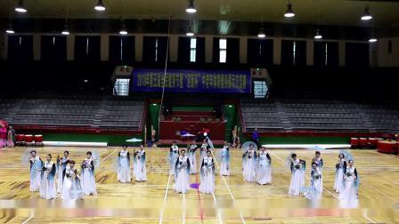 星苑国际艺术教育雅兰艺术团在全民健身节活动中表演舞蹈《风筝误》