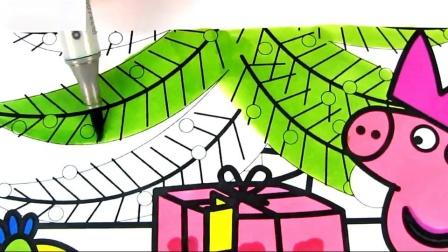圣诞礼物彩绘儿童彩绘标志儿童艺术色彩