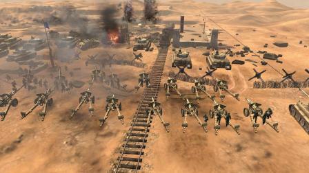 沙漠对决2几百重炮 坦克大决战  几百辆装甲  激战  英雄连2