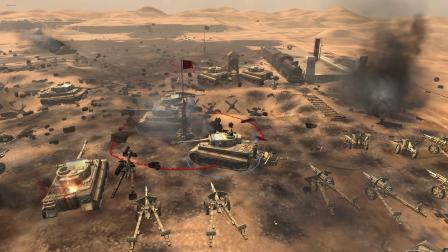 沙漠对决4 几百重炮 坦克大决战  几百辆装甲  激战  英雄连2