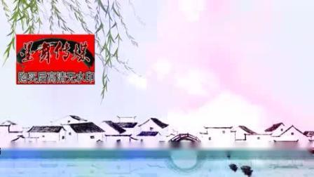 烟花三月彩色唯美烟雨江南配乐成品中国风古风水墨led视频素材