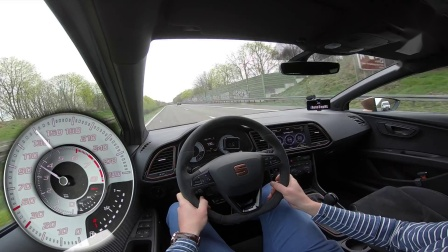 SEAT LEON CUPRA R 272km-h TOP SPEED on AUTOBAHN by AutoTopNL