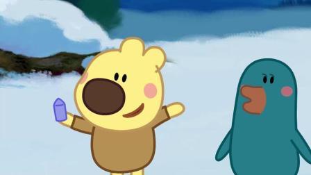 《小小画家熊小米》圣诞老人的驯鹿生病了,只有他一个人送礼物