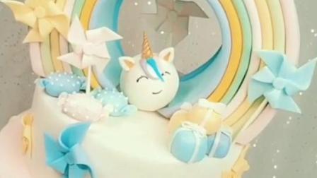 最新主题梦幻翻糖蛋糕作品分享给大家