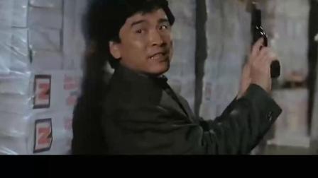 香港枪战片「义胆群英」李修贤,姜大卫联手对敌