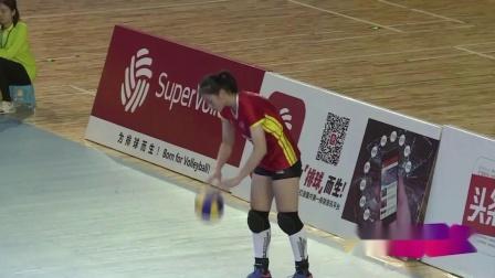 CUVA大学生排球联赛南方女排半决赛复旦大学3-0南京农大