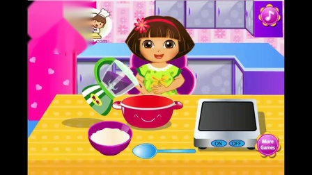 朵拉做蓝莓冰淇淋 公主游戏