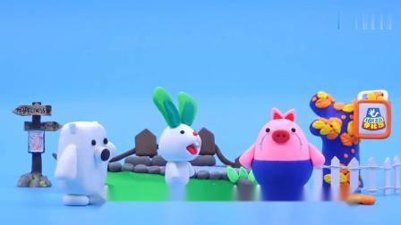 《方块熊乐园》罗卜兔和蛋蛋猪要去小花园赏花了!一起来吧