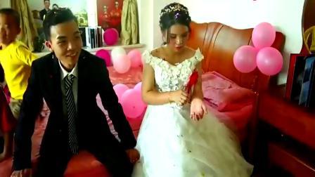 广东清远农村婚礼,新娘很漂亮,肚子太明显了
