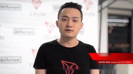 波场创始人-- 孙宇晨(Justin Sun)为MBAex与Tron合作发表