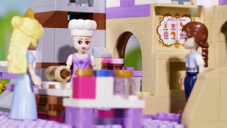 《方块熊乐园》露西公主和,莉亚公主的面包掉地上了?