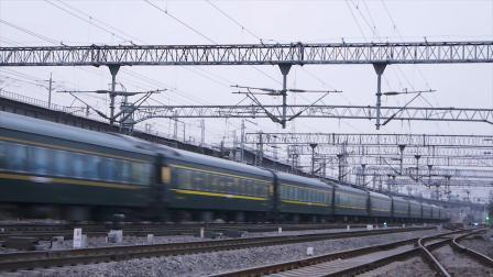 【火车视频】寒风茂陵  陇海的早晨