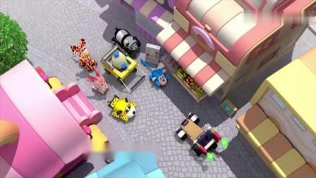 布隆家族动画片,警长先生在大街上到处寻找外星人