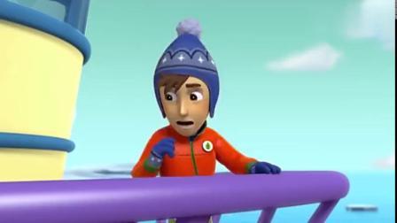汪汪队长:杰克观看北极熊,北极熊妈不高兴,船撞碎冰块