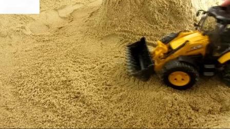 挖掘装载机挖掘机德国兄弟5生态儿童玩具