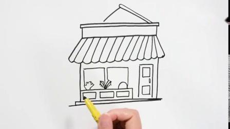 简笔画披萨店简笔画图片大全儿童画幼乐园画画作业简笔画学英语