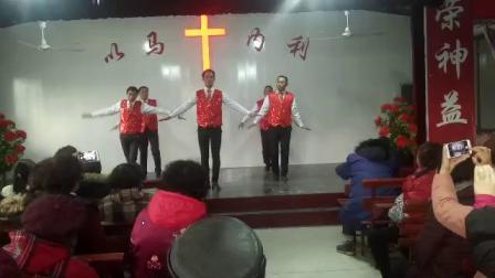 南通新联教会友尼基敬拜队圣诞节男弟兄舞蹈--是鹰你就飞起来