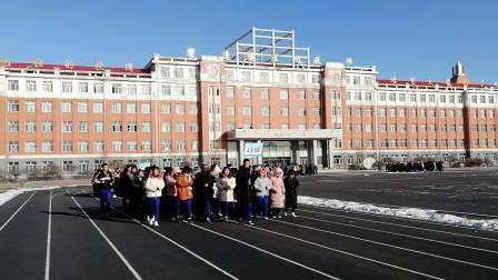 20181207集贤县第一中学冬季跑操