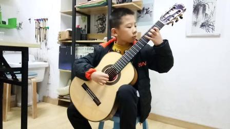 古典吉他《斯卡保罗集市》二年级沈灏博