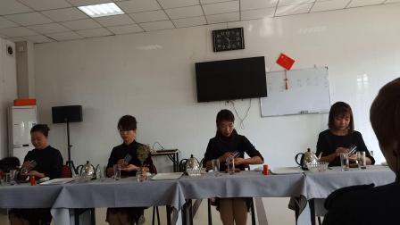 玻璃杯茶艺表演~雄县昝岗茶艺师培训课程~爱妃茶艺表演