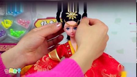 芭比娃娃古代美女杨贵妃换装玩具