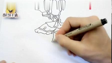 小花仙的少女战士简笔画,简单漂亮又好看,小朋友都喜欢的人物篇