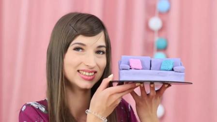 DIY创意美食 做超小的迷你蛋糕 这么小的蛋糕味道怎么样哪?