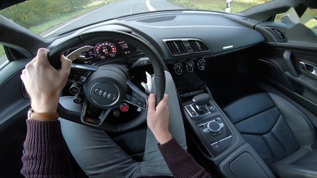 1000HP AUDI R8 V10 PLUS BiTurbo KLASEN Motors 347km-h REVIEW POV on Autobahn by