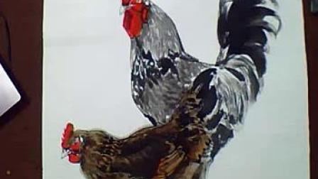4-梅若国画教学 公鸡与母鸡2、双松鼠1