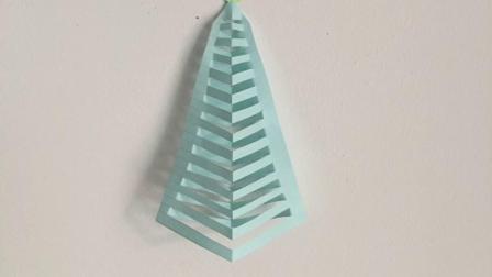 圣诞立体折纸  简单剪纸,一学就会;儿童手工亲子游戏。幼儿园作业折纸