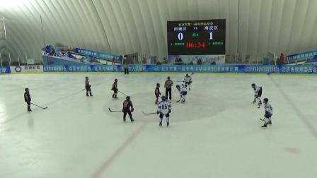市第一届冬季运动会竞技组冰球比赛(丙组):海淀区队VS西城区队(第1节)