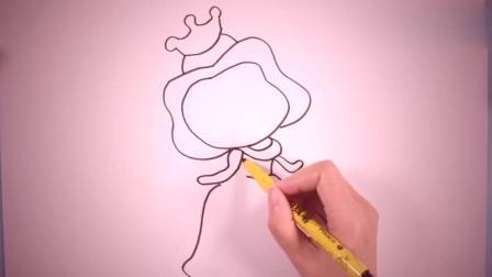 简笔画公主笔画图片大全儿童画幼乐园画画作业简笔画学英语