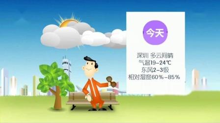 深圳卫视 正午30分 天气预报 2018-11-29