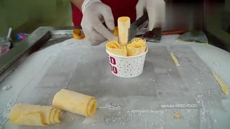 馋的流口水的芒果炒酸奶冰激凌,用了一整颗芒果,该卖多少钱呀