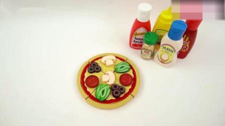 趣味过家家游戏:百变创意DIY披萨,比起水果蛋糕你更喜欢哪个!