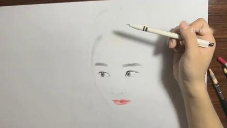 """彩铅绘画萌萌哒可爱""""赵丽颖""""生活照"""