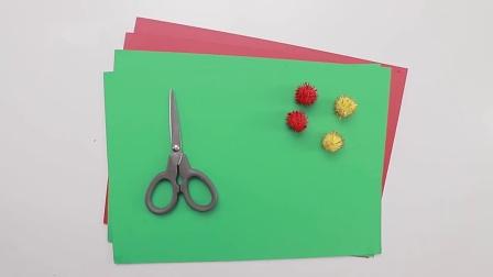 圣诞主题亲子手工:用卡纸做一颗美丽的圣诞树,省事又省钱!