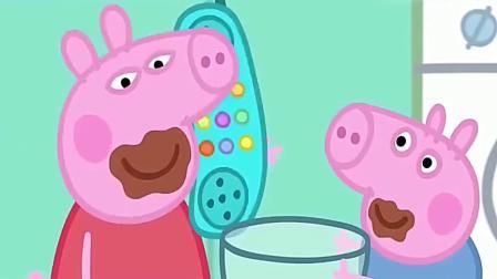 小猪佩奇:猪老爸过生日,猪母亲给他做他最爱吃的巧克力蛋糕