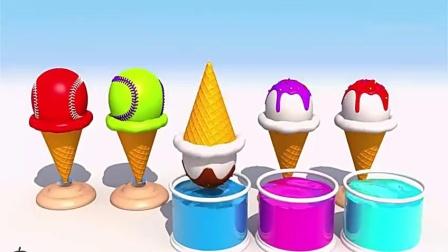 早教色彩启蒙:DIY做彩虹冰淇淋玩玩,教宝宝认识颜色