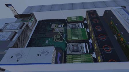 大型高端商用服务器VR拆装录屏(40s)