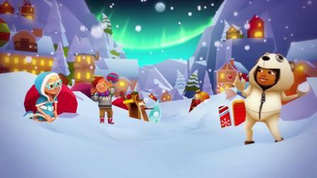 温情圣诞,《地铁跑酷》在英国伦敦欢乐驰骋