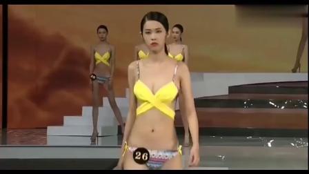中国超级模特大赛总决赛,泳装走秀,这可是男人的福音呀!