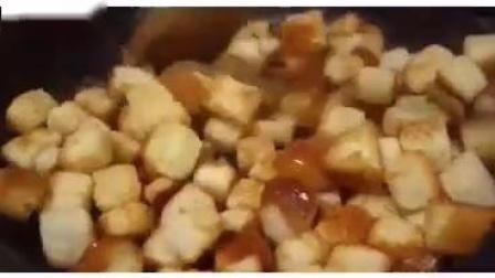 【焦糖吐司】白土司切块经过翻炒,分分钟变成根本停不下来的零食