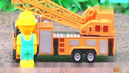 大吊车起重机工作演出视频工程车模子定格动画