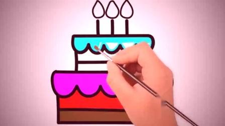 亲子简笔画:可爱蛋糕画画