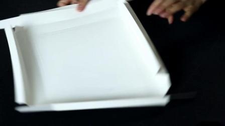 云端可行烘焙包装蛋糕盒盖子折叠视频