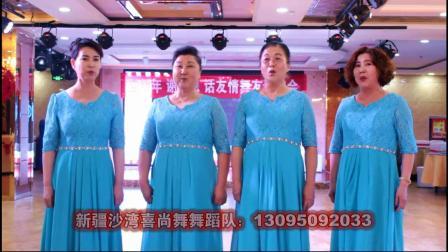 """沙湾县""""喜尚舞""""舞蹈队2019年迎新春联谊会视频(子红文化制作)"""