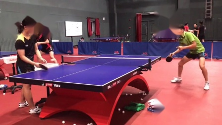 直板正手拉下旋#乒乓球训练