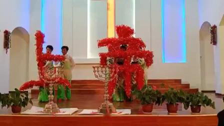 西固西固基督教礼拜堂感恩平安夜舞蹈《这一生最美的祝福》
