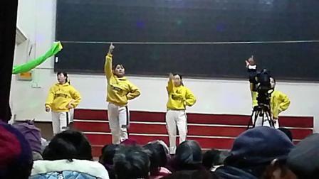 蒙城县板桥镇基督教堂圣诞节舞蹈《爱的天堂》。